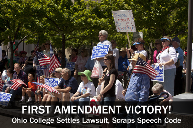 First Amendment Victory: Ohio College Settles Lawsuit, Scraps Speech Code—photo courtesy of Bobby Deddens