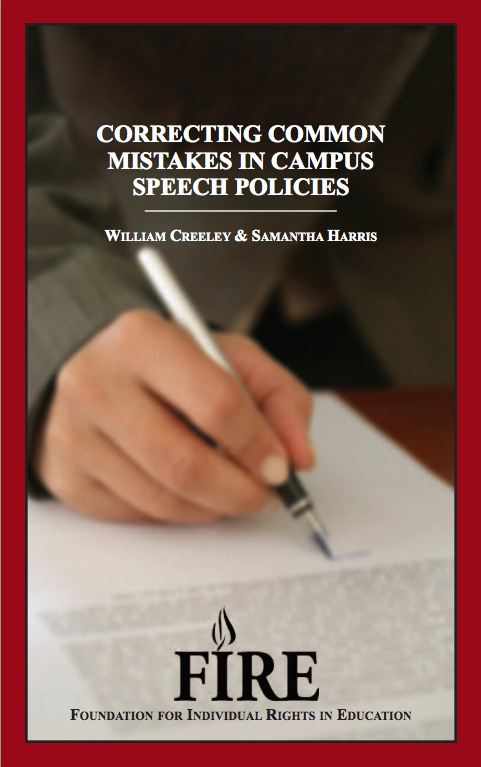 FIRE's Correcting Common Mistakes in Campus Speech Policies