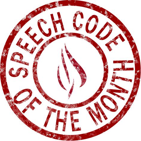 Speech Code of the Month logo